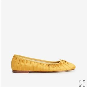 Ann Taylor satin golden yellow flats